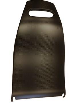 混合碳纤维和木纤维复合汽车座椅靠背