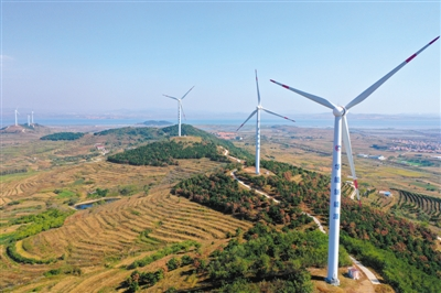 """沿海""""风电长廊""""推动绿色发展"""