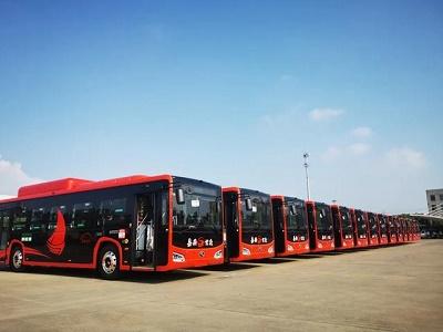18辆首批碳纤维复合材料轻量化新能源巴士亮相嘉兴